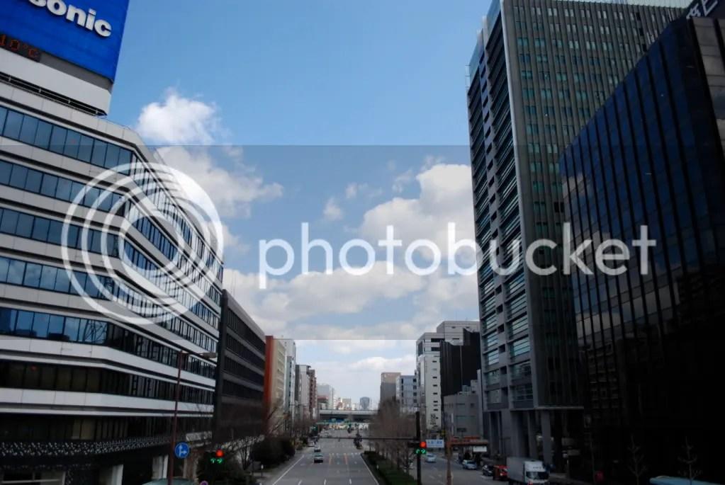 shiny glass buildings