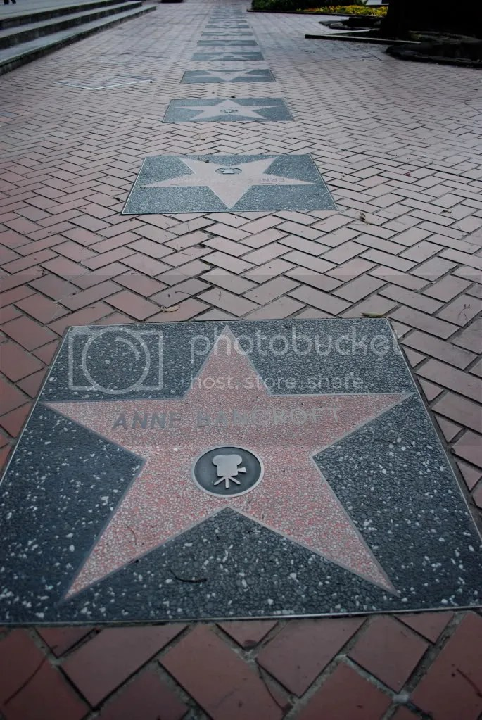 reproduction of some of the Hollywood Walk of Fame.