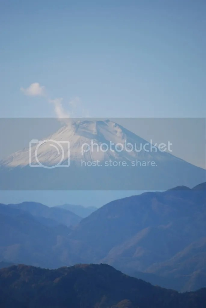 Zoomed in to see Mt. Fuji