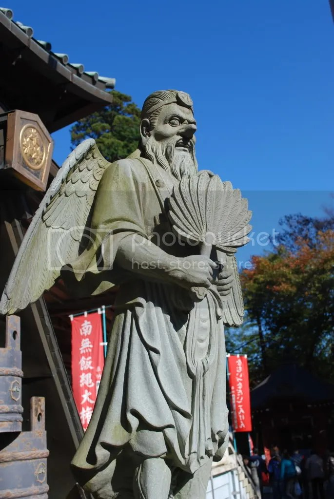 statue guarding the temple