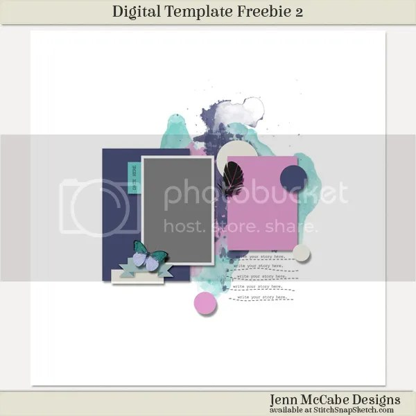 Digital Template Freebie 2 by Jenn McCabe