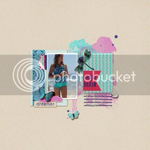 Dreamer Digital Scrapbook Layout by Jenn McCabe