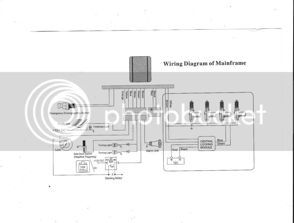 car alarm wiring diagram definitions