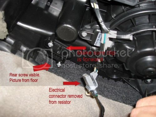 small resolution of ac blower motor resistor wiring harness