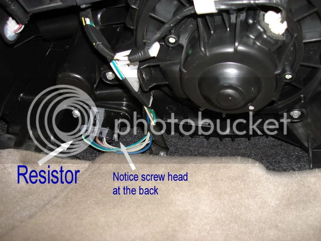 hight resolution of  resistorlocation original hvac blower motor resistor replacement toyota nation forum 2001 dodge durango blower motor