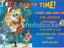 Spongebob Squarepants Personalized Party Invitations Photo ...