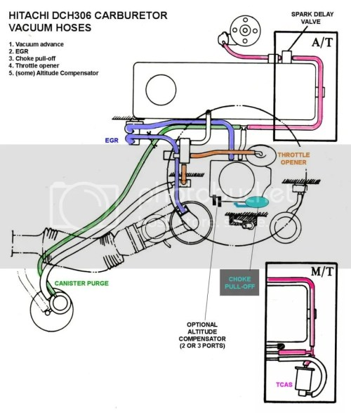 small resolution of tech wiki vacuum hose routing datsun 1200 club line and or disconnected i have enclosed the diagrams for hose routing