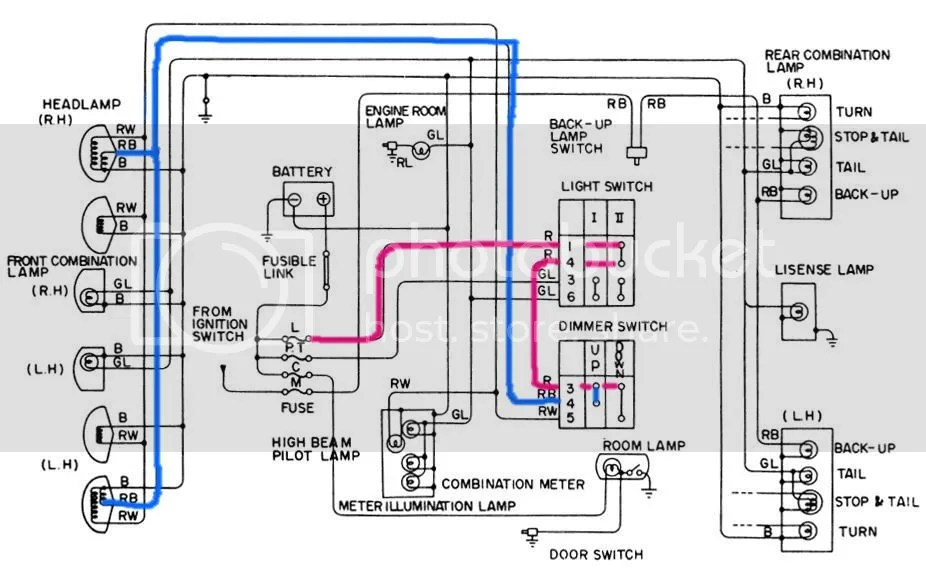datsun 620 wiring diagram cat6 phone tech wiki - headlight : 1200 club