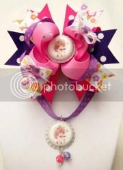 fancy nancy necklace hair bow set