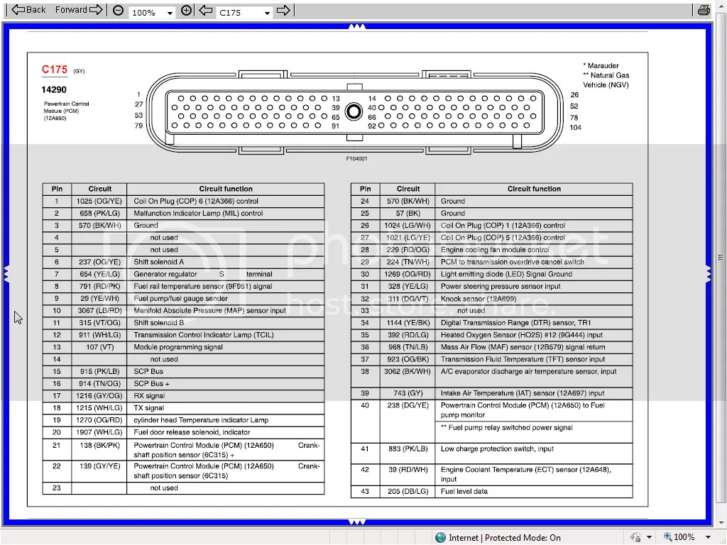 hight resolution of 2003 pcm pinout 4 6l based powertrains crownvic net 99 ford crown victoria pcm wiring diagram