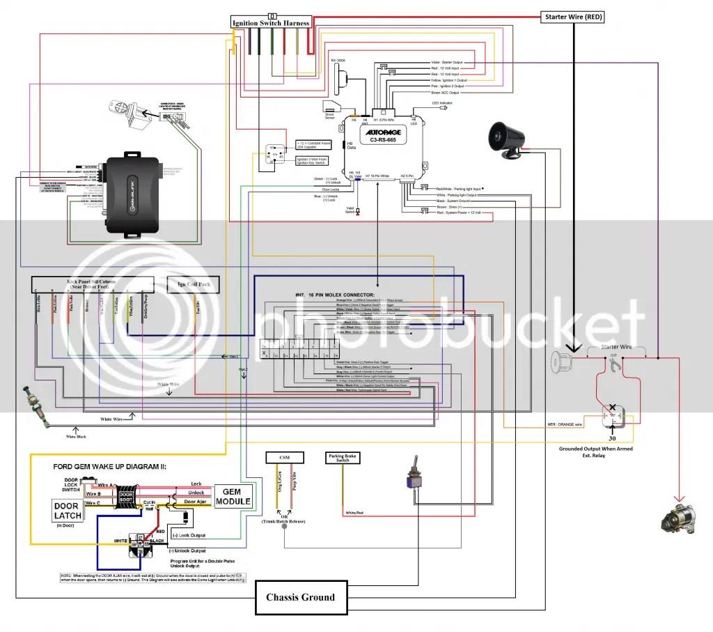 Avital 4103 Remote Starter Wiring Diagram