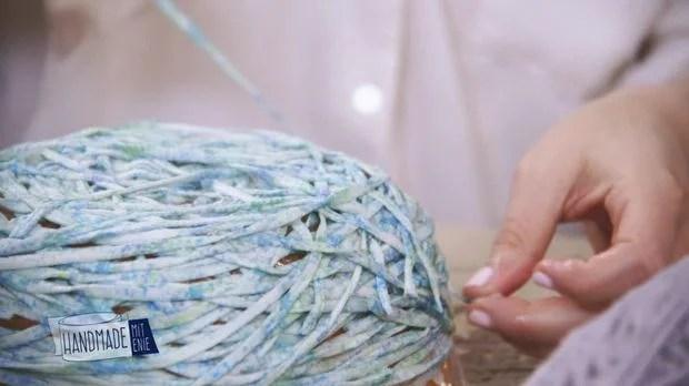 Schale aus Wolle DIYAnleitung aus Handmade mit Enie