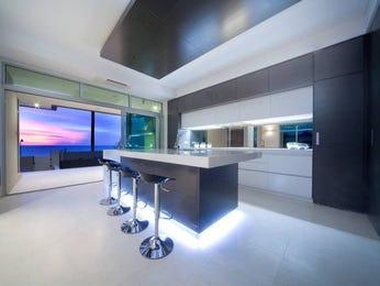 Modern island kitchen design using tiles  Kitchen Photo