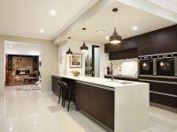 Modern galley kitchen design using granite - Kitchen Photo ...