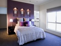 Purple bedroom design idea from a real Australian home