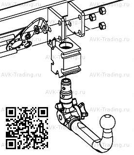 Быстросъёмный фаркоп Bosal Oris 048-773 для автомобиля