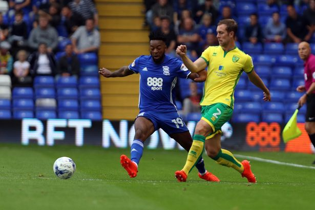 Birmingham's Jacques Maghoma and Norwich's Steven Whittaker  Birmingham Town weblog: Switch window proves our membership is administered by way of smart people JS98075160