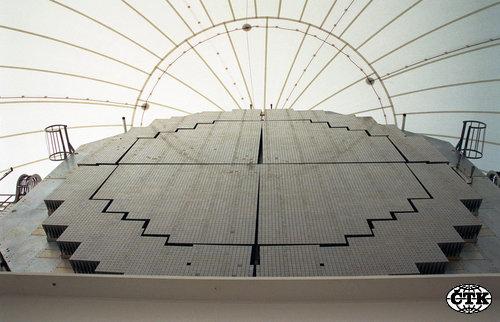 Ilustračni snimek radaru XBR (na nedatovaném archivnim snimku poskytnutém Velvyslanectvim USA v ČR), který je součásti systému protiraketové obrany USA. - ilustračni foto