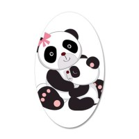 Cute Mom & Baby Panda Bears Wall Decal by SweetPeaMaternity