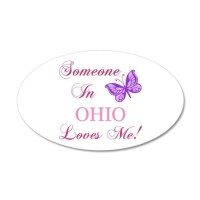 Ohio State (Butterfly) Wall Decal by StateSouvenirGifts