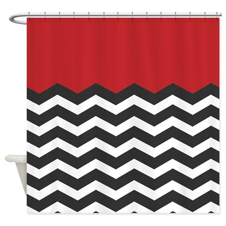 Red Chevron Shower Curtains Red Chevron Fabric Shower Curtain Liner