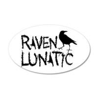 Raven Lunatic - Halloween Wall Decal by GB_Raven_Lunatic