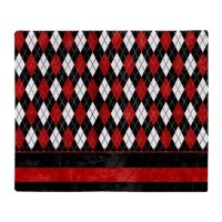 Red, Black and White Argyle Throw Blanket by listing-store ...