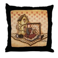 Country Primitive Pillows, Country Primitive Throw Pillows