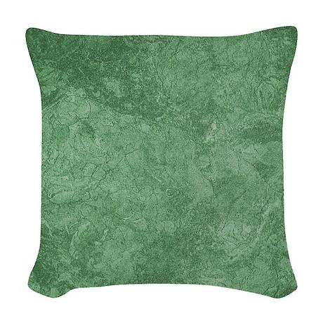 Sage Green Woven Throw Pillow by fan2fan