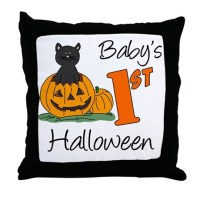 Babys First Halloween Throw Pillow by Admin_CP20568090
