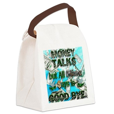 Money Talks Canvas Lunch Bag By Admincp3140811