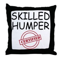 SKILLED HUMPER Throw Pillow by Admin_CP24380890