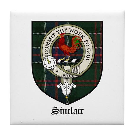 Sinclair Clan Crest Tartan Tile Coaster By Coatofarmscrest