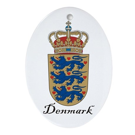 Denmark Coat Of Arms Crest Oval Ornament By Coatofarmscrest