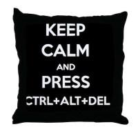 Ctrl+Alt+Del 2 Throw Pillow by Admin_CP72157256