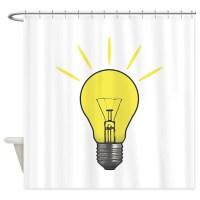 Bright Idea Light Bulb Shower Curtain by thespankdmonkey