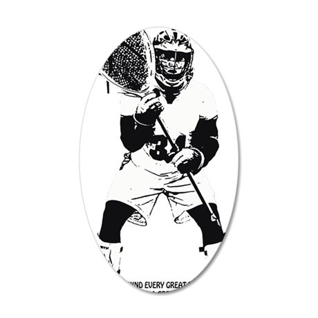 Lacrosse Goalie Behind Every Decal Wall Sticker by Admin