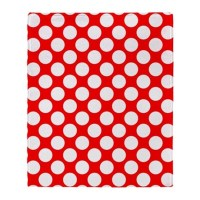 Red and White Polka Dot Throw Blanket by Admin_CP3895098