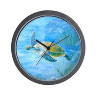 Underwater turtle Wall Clock by Admin_CP9235845