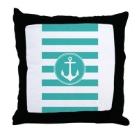 Turquoise Anchor Pillows, Turquoise Anchor Throw Pillows ...
