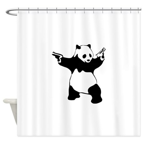 Panda Shower Curtains Panda Fabric Shower Curtain Liner