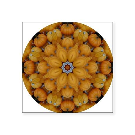 """Pumpkin Mosaics Square Sticker 3"""" x 3"""""""