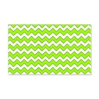 Chevron Zigzag Pattern Lime Green Wall Decal by Admin ...