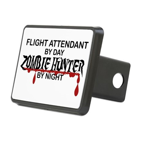 Zombie Hunter  Flight Attendant Hitch Cover by poor_richards