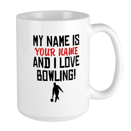 Funny Personalized Bowling Coffee Mugs