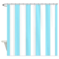 Light blue stripes 2 Shower Curtain by laughoutlouddesigns1