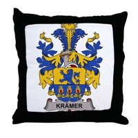 Kramer Family Crest Pillows, Kramer Family Crest Throw ...