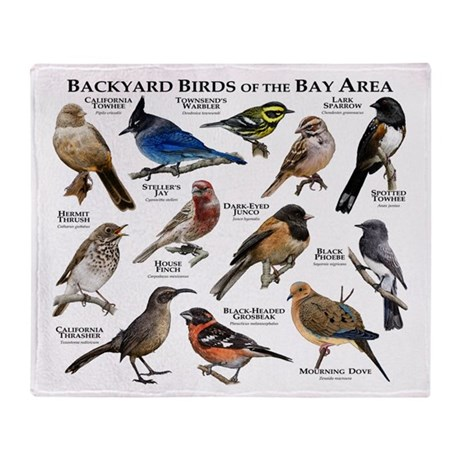 Backyard Birds Of The Bay Area Throw Blanket By Wildlifearts3