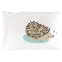 His Hedgehog Couple Pillow Case by sweetdreamsbedding