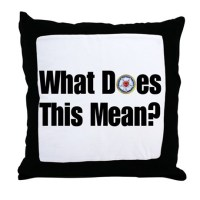 What does this mean? Throw Pillow by alsowithyou